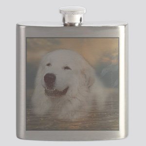 "Great Pyrenees Flask ""Bairney"""
