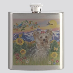 Mt. Country and Yorkshire Terrier Flask