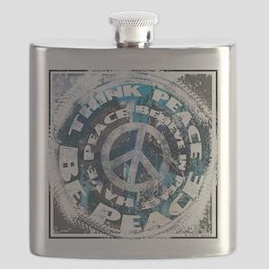 Urban Peace Blue & Blk Flask