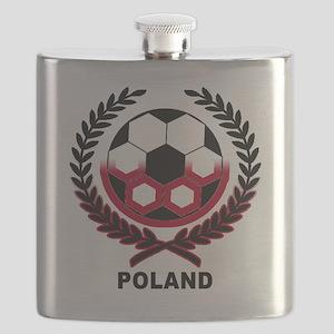 Poland World Cup Soccer Wreath Flask