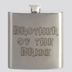 Country Brother of the Bride Flask