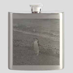 Chinstrap Penguin on the Beach Flask