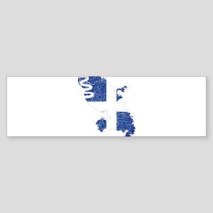 Martinique Flag And Map Sticker (Bumper)