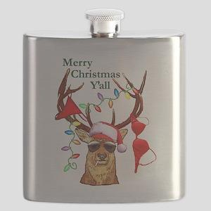 Smoking Redneck Christmas Flask