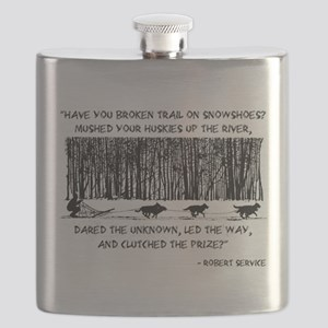 Mushed Your Huskies Poem Flask
