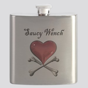 Saucy Wench Heart Flask