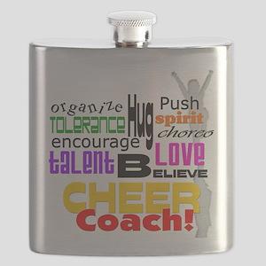 Cheer Coach Words Flask