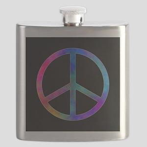 Multicolor Peace Sign Flask