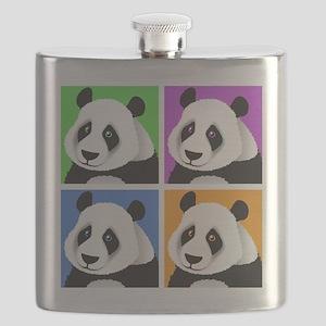 Panda Bear Squares Flask