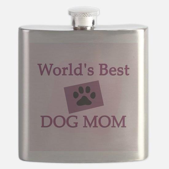 World's Best Dog Mom Flask