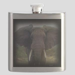 Charging Bull Elephant Flask