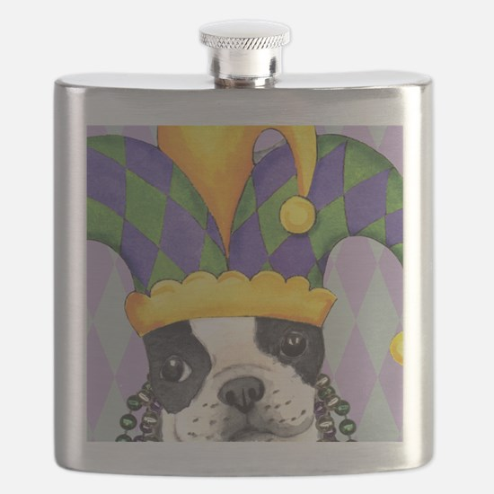 Party Boston Terrier Flask