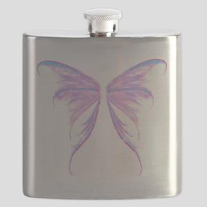 blue/ purple wings Flask