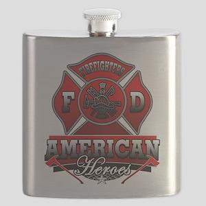American Heroes Flask