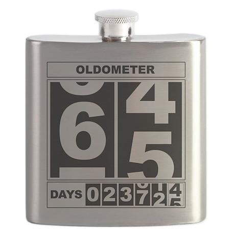 65th Birthday Oldometer Flask