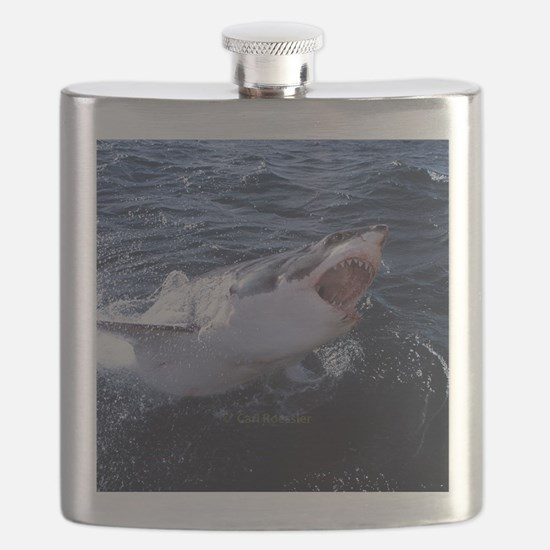Attacking Shark Flask
