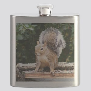 Gray Squirrel Flask