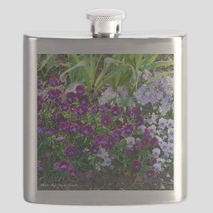 Purple Pansy Flask