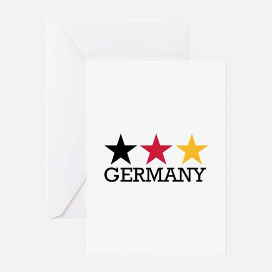 Germany stars flag Greeting Card