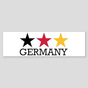 Germany stars flag Sticker (Bumper)