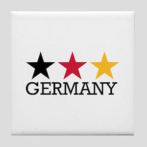 Germany stars flag Tile Coaster