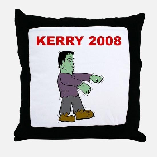 Frankenstein Kerry 2008 Throw Pillow