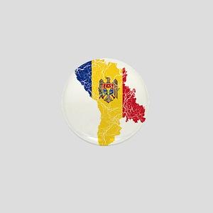 Moldova Flag And Map Mini Button