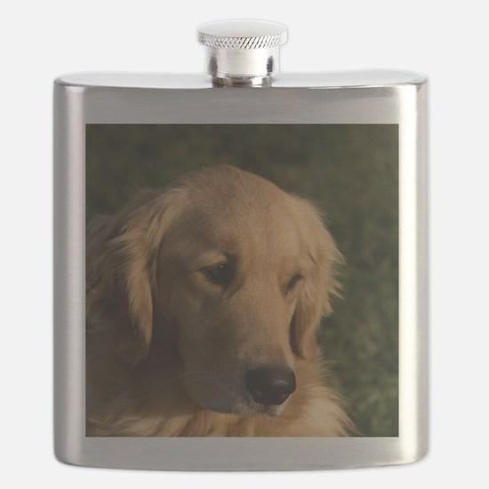 Golden Retriever Head Flask