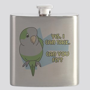 Can You Fly Quaker Parrot TShirt can cooler