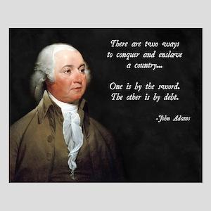 John Adams Sword and Debt Small Poster