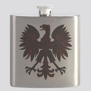 Polish Eagle red and black Flask