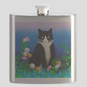 Tuxedo Cat Flask