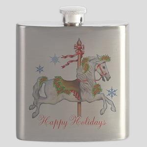 Christmas Carousel Flask