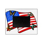 American Flag Butterflies Picture Frame