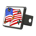 American Flag Butterflies Rectangular Hitch Cover