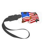 American Flag Butterflies Small Luggage Tag