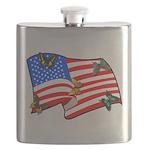 American Flag Butterflies Flask