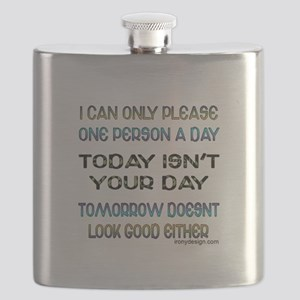 I Can Only Please... Flask Picture