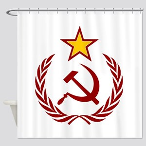 HAMMER SICLE THE STAR Shower Curtain