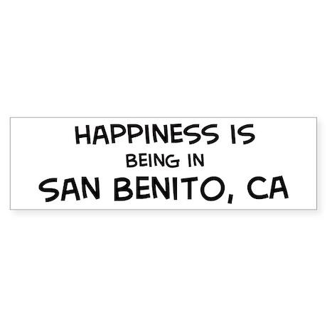 San Benito - Happiness Bumper Sticker