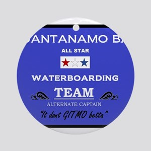 Guantanamo Bay Waterboarding Ornament (Round)