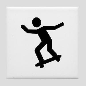 Skateboarding icon Tile Coaster