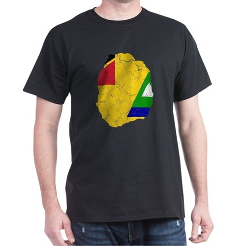 Nevis Flag And Map T-Shirt
