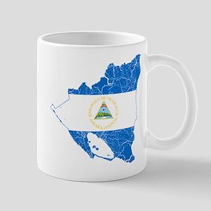 Nicaragua Flag And Map Mug