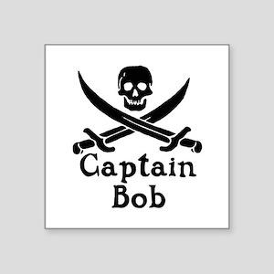 """Captain Bob Square Sticker 3"""" x 3"""""""