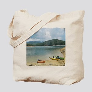 Water Color Kayaking Tote Bag