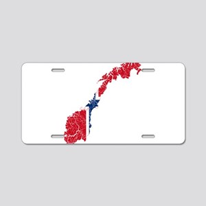 Norway Flag And Map Aluminum License Plate