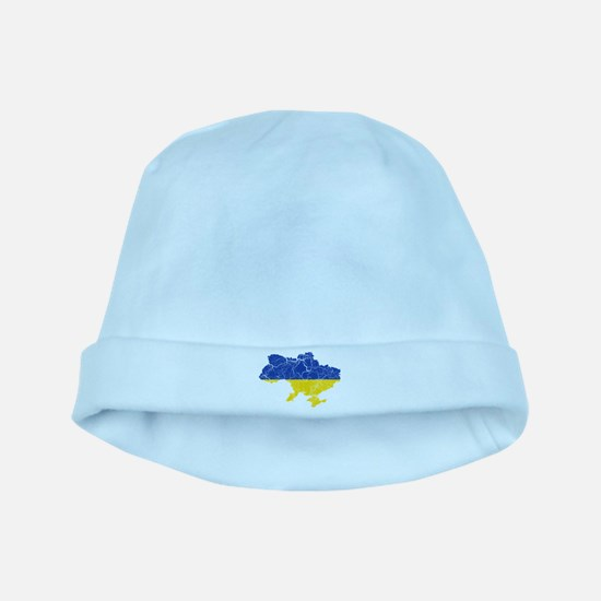 Ukraine Flag And Map baby hat