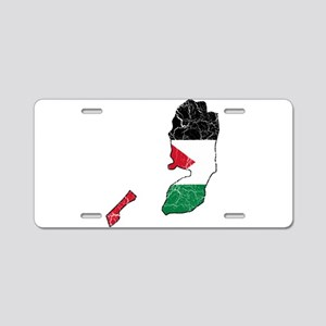 Palestine Flag And Map Aluminum License Plate