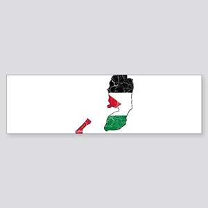 Palestine Flag And Map Sticker (Bumper)